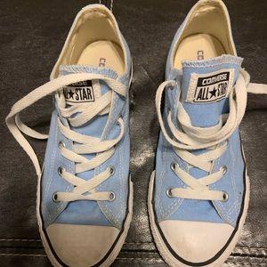 Light blue converse - very gently worn